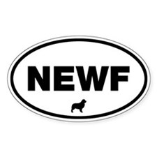 NEWF Oval Decal