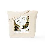 Camo Sleepy Cat Tote Bag
