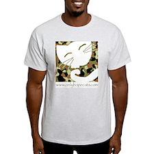 Camo Sleepy Cat Ash Grey T-Shirt