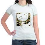 Camo Sleepy Cat Jr. Ringer T-Shirt