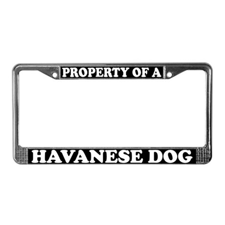 Property Of A Havanese License Plate Frame