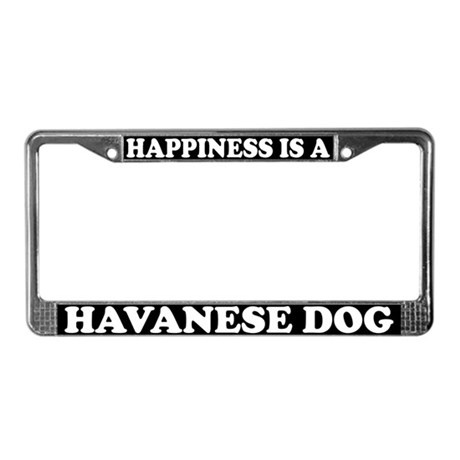Happiness Is A Havanese License Plate Frame