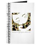 Camo Sleepy Cat Journal