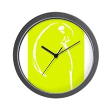 Yellow Budgie Wall Clock