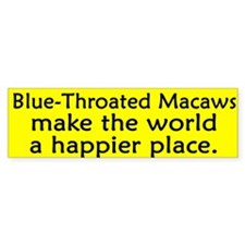 Happy Place Blue Throated Macaw Bumper Bumper Sticker