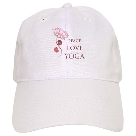 Peace Love Yoga Cap