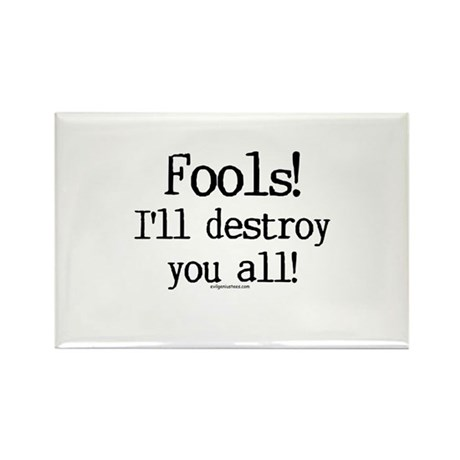 Fools! I'll destroy you all. Rectangle Magnet (10
