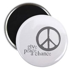 Give Peace a Chance - Grey Magnet