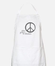 Give Peace a Chance - Grey BBQ Apron