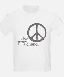 Give Peace a Chance - Grey T-Shirt