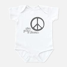 Give Peace a Chance - Grey Infant Bodysuit