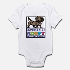 Dachshund Rescue Infant Bodysuit
