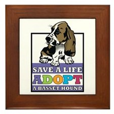Basset Hound Rescue Framed Tile