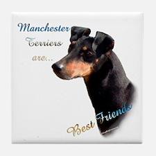 Manchester Best Friend 1 Tile Coaster