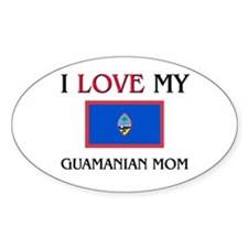 uamanian Mom Oval Decal