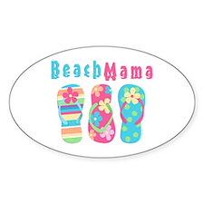 Beach Mama Oval Decal