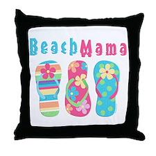 Beach Mama Throw Pillow