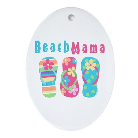Beach Mama Oval Ornament