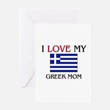 I Love My Greek Mom Greeting Cards (Pk of 10)