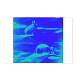 Blue Rabbits Postcards (Package of 8)