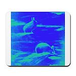 Blue Rabbits Mousepad
