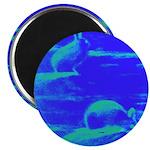 Blue Rabbits Magnet