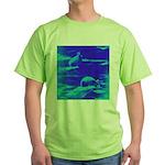 Blue Rabbits Green T-Shirt