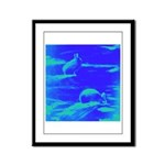 Blue Rabbits Framed Panel Print