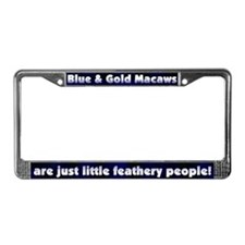 Feathery Ppl Blue & Gold Macaw License Plate F