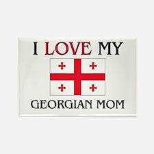 I Love My Georgian Mom Rectangle Magnet