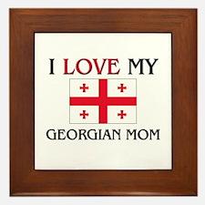 I Love My Georgian Mom Framed Tile