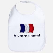 French A Votre Sante Bib