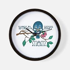 Birdie Best Mom Wall Clock