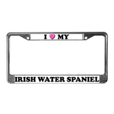 I Heart My Irish Water Spaniel License Plate Frame