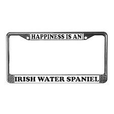 Happiness Irish Water Spaniel License Plate Frame