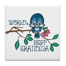Birdie Best Grandma Tile Coaster