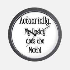 Actuarially Daddy Wall Clock