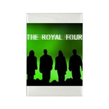 The Royal Four 6 Rectangle Magnet