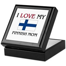 I Love My Finnish Mom Keepsake Box