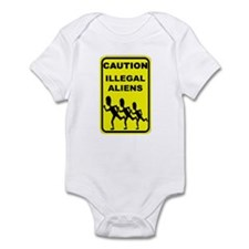 Real Illegal Aliens Infant Bodysuit