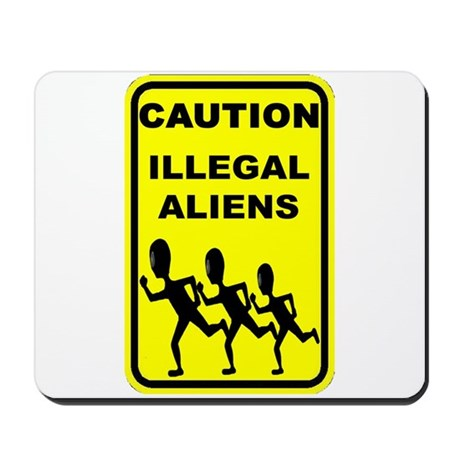 Real Illegal Aliens Mousepad