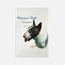 Mini Bull Best Friend 1 Rectangle Magnet