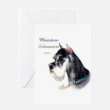 Mini Schnauzer Best Friend 1 Greeting Card