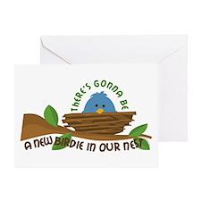 New Birdie Greeting Card