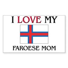I Love My Faroese Mom Rectangle Decal