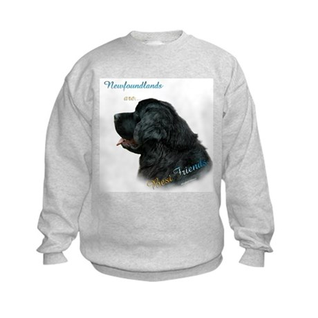 Newfie Best Friend 1 Kids Sweatshirt