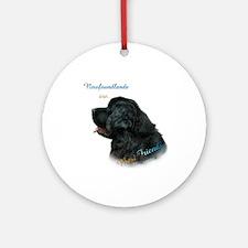 Newfie Best Friend 1 Ornament (Round)