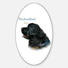Newfie Best Friend 1 Oval Bumper Stickers