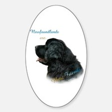Newfie Best Friend 1 Oval Decal