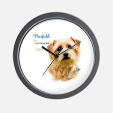 Norfolk Best Friend 1 Wall Clock